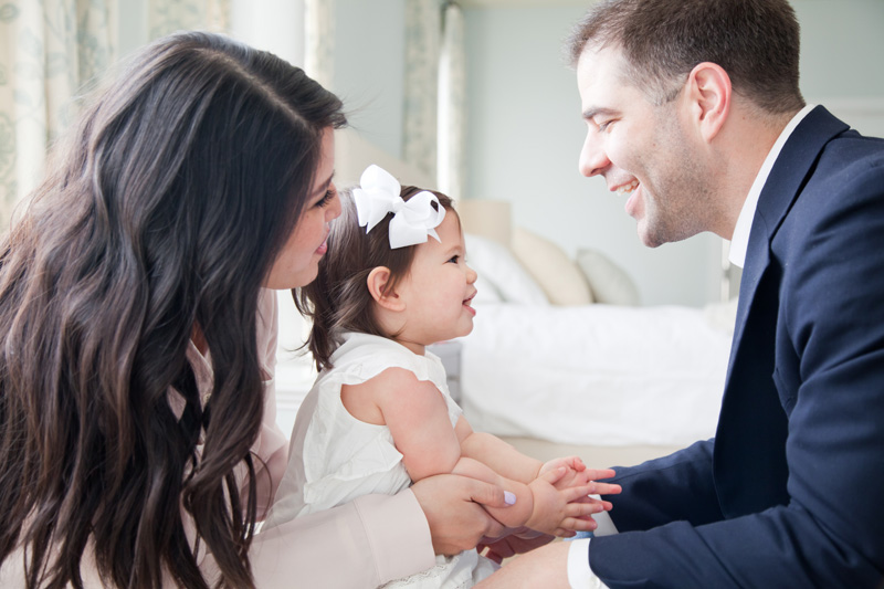 Family Photography and Milestone Photography, couple playing with their little girl