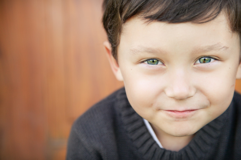 Family Photography and Milestone Photography, close up of little boy with green eyes