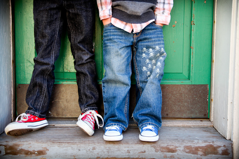 Family Photography and Milestone Photography, shoe shot of brothers