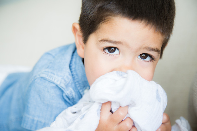 Family Photography and Milestone Photography, boy with his blankie
