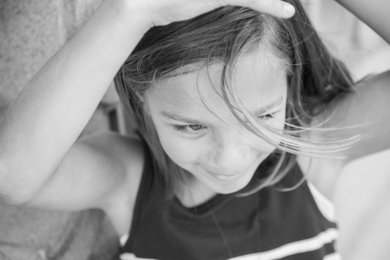 Family Photography and Milestone Photography, black and white of little girl