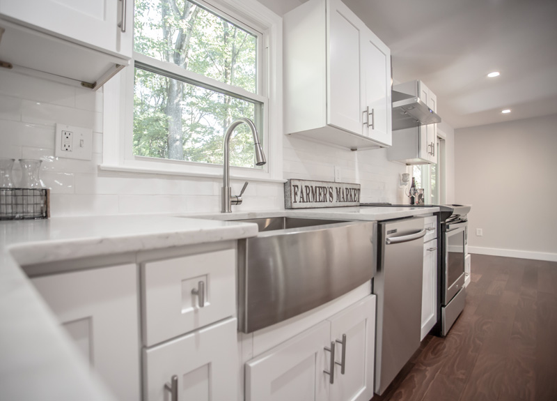 Real Estate Photography, close up shot of kitchen counter