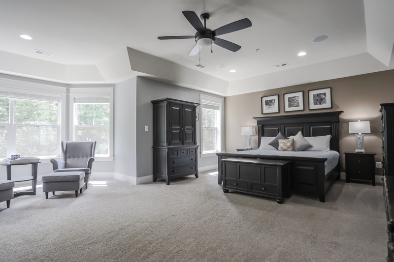 Real Estate Photography, dark toned bedroom