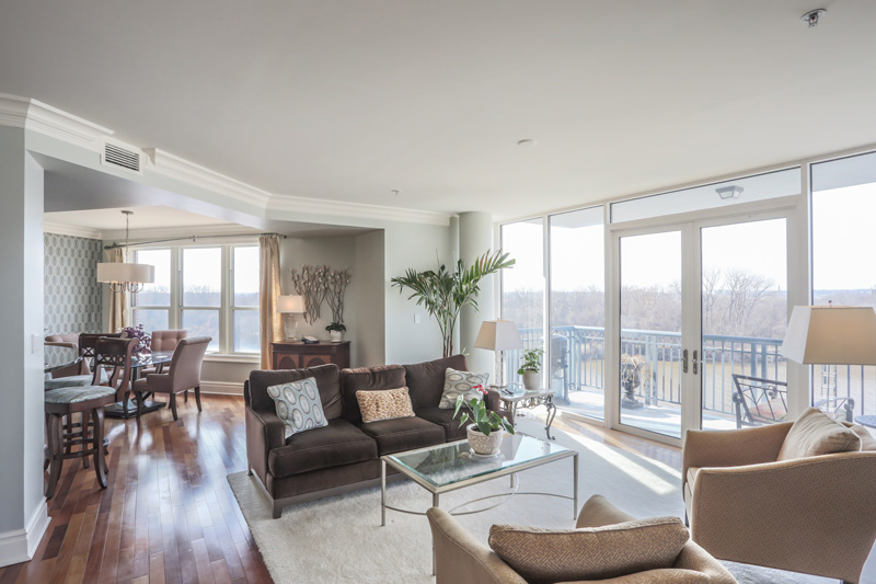 Real Estate Photography, livingroom with a view